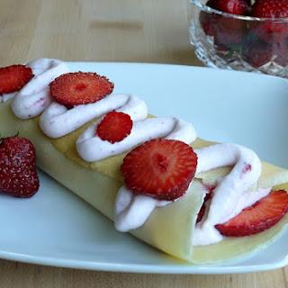 Sweet Vanilla Crêpes with Fresh Strawberry Crème