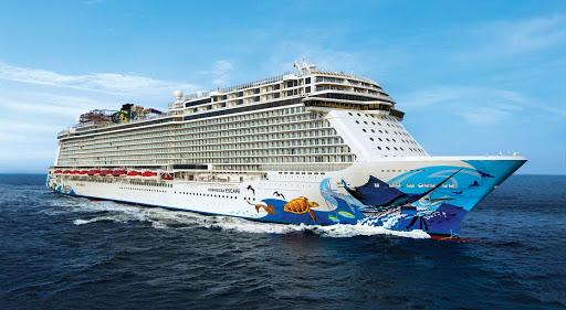 Norwegian-Escape-hull2 -  Norwegian Escape carries 1,651 crew members — or, on average, 2.5 per guest.
