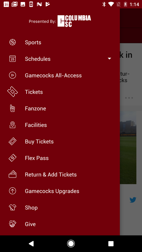 South Carolina Gamecocks- screenshot