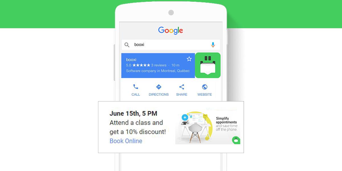 Réserver sur Google Mon Entreprise