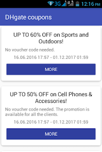 DHgate coupons - náhled