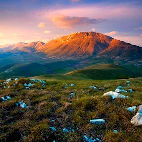 Monti Sibillini by Boris Michaliček - Landscapes Mountains & Hills