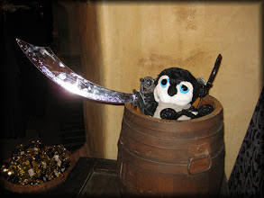 Photo: Arrr! Defending pirate loot!