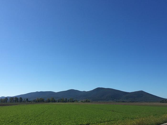 Parte settentrionale dei Monti dell'Uccellina, vista dalla piana dell'Ombrone
