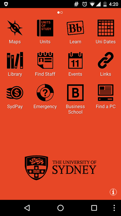 Sydney Uni- screenshot