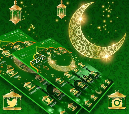 Green Moon Star Ramadan Theme 1.1.6 screenshots 2