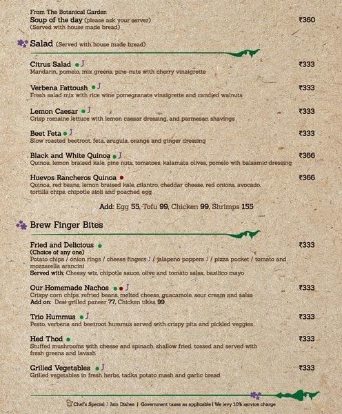 Verbena-Brewpub And Sky Garden menu 2