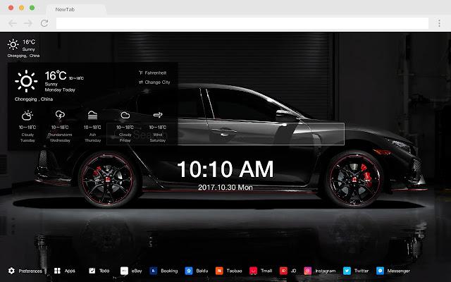 Honda Pop Wallpaper HD Car New Tab Page Theme