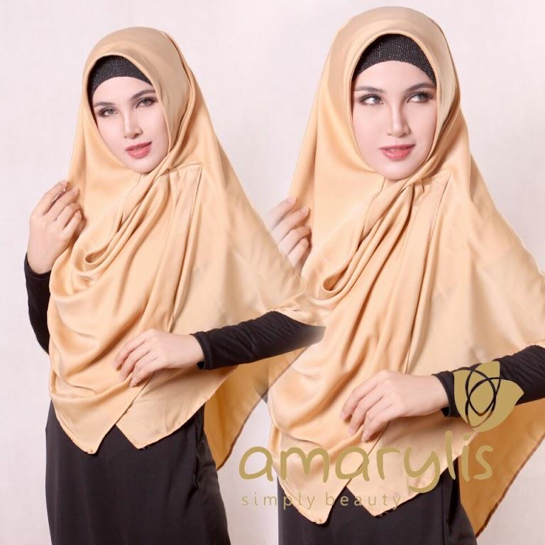 Jilbab Amarylis Classic Ruffle Non Pet Satin Silk series