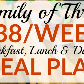 $38 Meal Plan for a Family of Three – Breakfast, Lunch & Dinner for 1 Week.