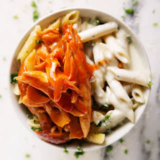 Blue Cheese Penne with Buffalo Chicken.
