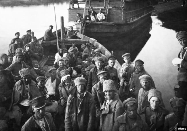 Красноармейцы в польском плену, 1920 год