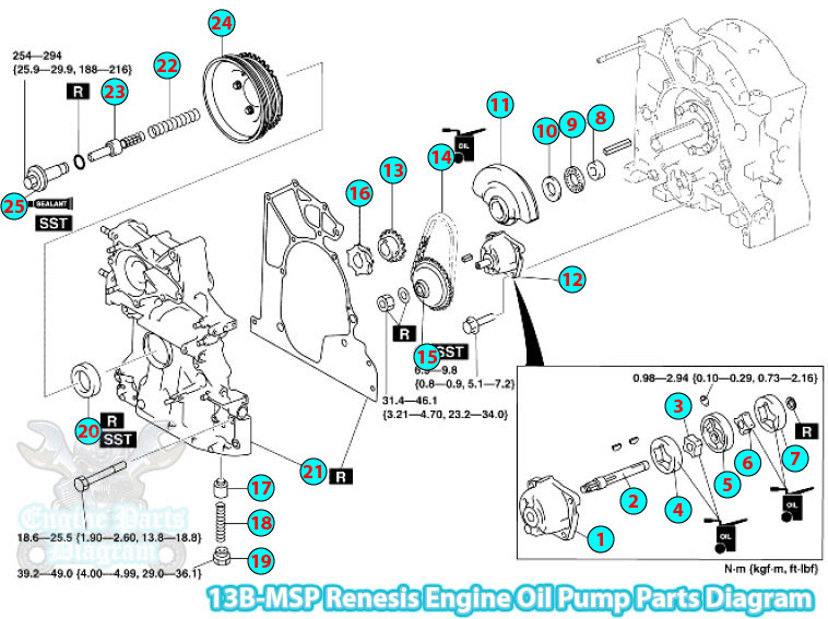 mazda rx 8 engine parts diagram 13b msp renesis