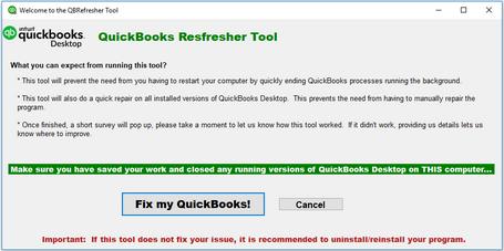 QuickBooks not responding
