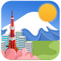 Japanese style weather today icon