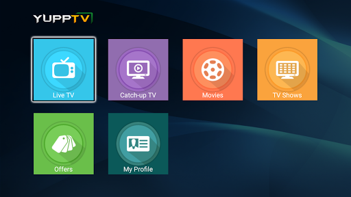 YuppTV for AndroidTV screenshot 1