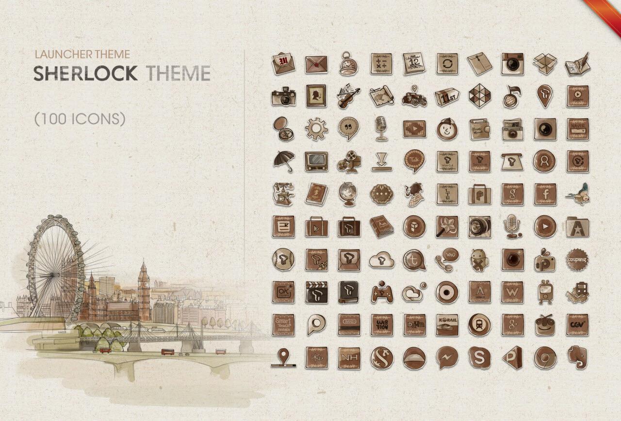 Gmail live themes - Sherlock Live Launcher Theme Screenshot