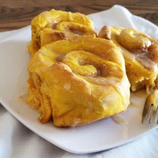 Pumpkin Cinnamon Rolls with Brown Sugar Glaze