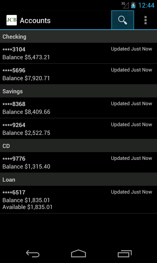 Johnson City Mobile Banking- screenshot