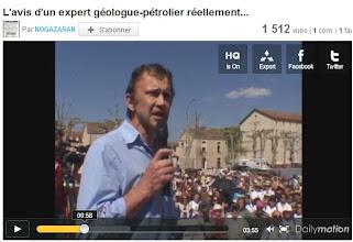 Photo: 17/04/11 CAHORS. Un expert géologue prend la parole.  http://www.dailymotion.com/video/xie7c5_l-avis-d-un-expert-geologue-petrolier-reellement-independant-ca-denote_news