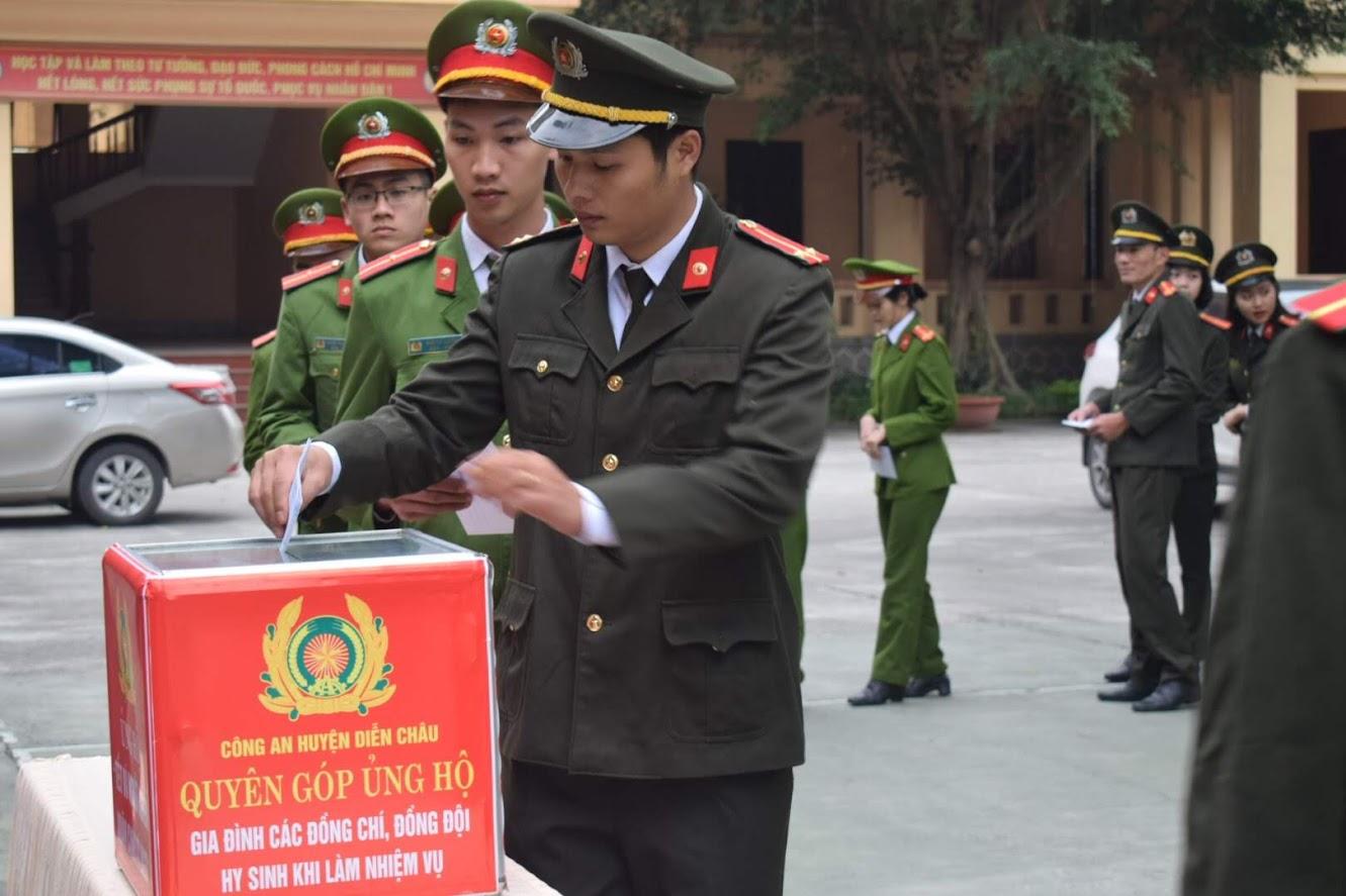 Công an huyện Diễn Châu phát động học tập 3 liệt sĩ hi sinh vì đảm bảo ANTT tại Đồng Tâm