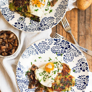 Fall Bubble & Squeak with Garlicky Mushrooms and Fried Egg