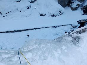 Photo: Primo tiro sotto le punte dei ramponi