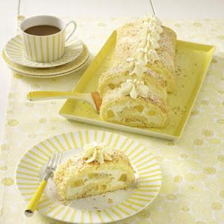 Pina Colada Sponge Cake Roll