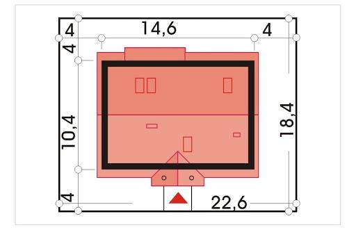Sielanka II 35st. wersja A bez garażu z piwnicą - Sytuacja