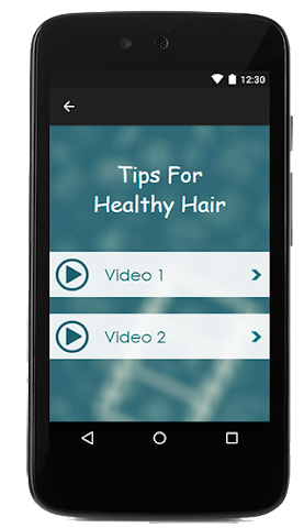 android Tips For Healthy Hair Screenshot 1
