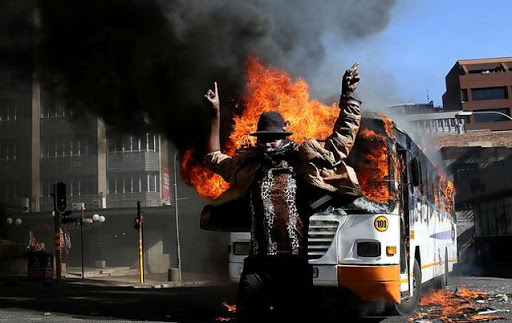 Image result for burning tyres in south africa photo