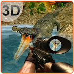 3D Angry Crocodile Hunter Sim Icon