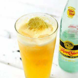Fresh Peach Margarita and Fresh Peach Spritzer (non-alcoholic).