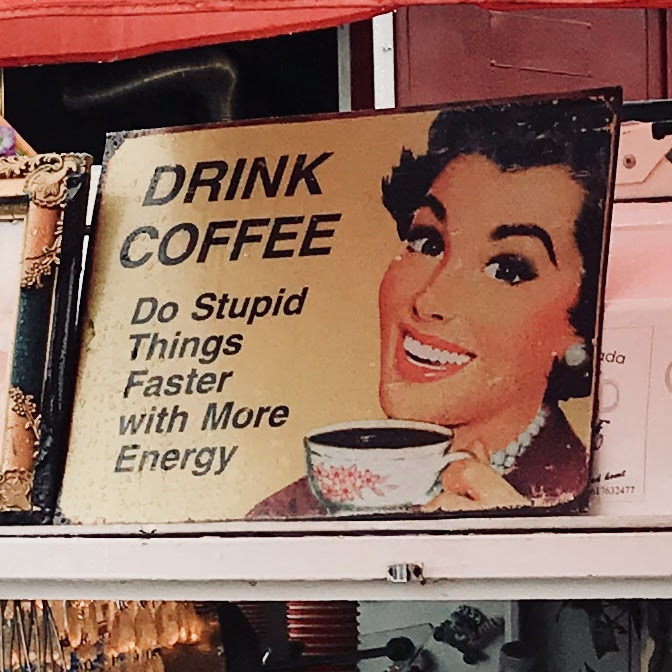 Coffee sign.