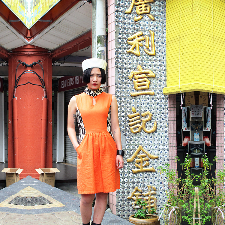 Fen Qipao Orange Small by STH Creative S/B