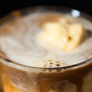 Bourbon & Espresso Affogato with Peanut Butter-Bacon Ice Cream