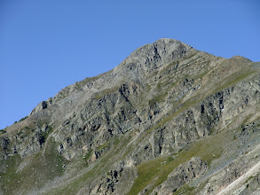 Photo: South Truchas peak in the early morning. I think the dark spots on top are bighorn sheep.