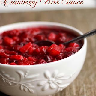 Cranberry Pear Sauce Recipes