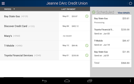 Jeanne D'Arc Mobile Banking screenshot 8