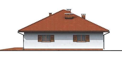 Dom przy Słonecznej - Elewacja prawa