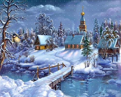 Bildergebnis für weihnachtliche landschaften