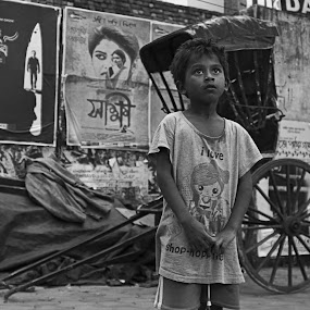 Searching Dreams! by Ritwik Ray - City,  Street & Park  Street Scenes ( portait, street photography )