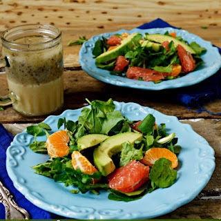 Paula Deen's Poppy Seed Salad Dressing and Watercress Salad.