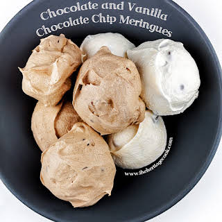 Chocolate and Vanilla Meringues with a Surprise Inside (Gluten-Free).