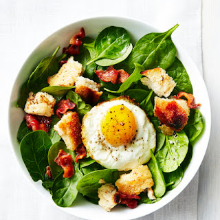 Spinach, Bacon, and Fried Egg Salad.