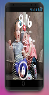 Theme Lockscreen for kids couple - náhled