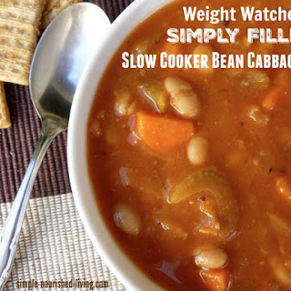 Weight Watchers Simply Filling Slow Cooker Bean & Cabbage Soup.