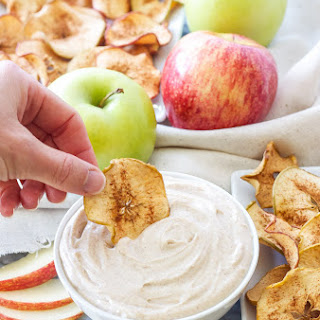 Baked Apple Chips with Snickerdoodle Dip