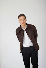 Photo: Rust field jacket in wax cotton with black chino