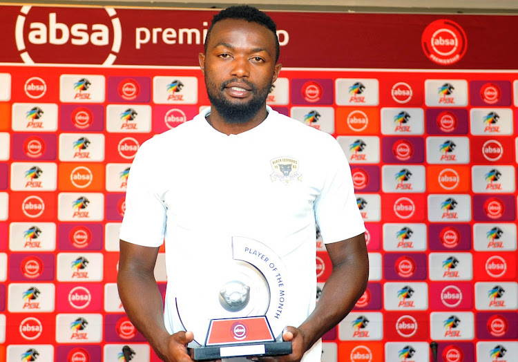 Black Leopards striker Mwape Musonda receives the PSL Player of the Month for January.